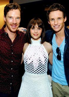 Benedict Cumberbatch, Felicity Jones and Eddie Redmayne attend the Variety Studio during the 2014 Toronto International Film Festival on 8th September, 2014
