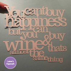 Cut your own JPEG papercut template - You can't buy happiness - PERSONAL use only