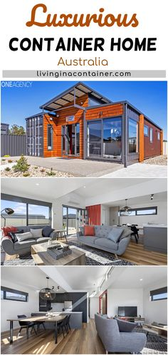 We have the absolute pleasure in presenting you with this unique, modern & industrial themed container home available for sale in the beautiful township of Port Sorell, currently run as Airbnb options with fantastic occupancy rates. Building A Container Home, Container Cabin, Container Buildings, Container House Plans, Container House Design, Tiny House Design, Shipping Container Home Designs, Shipping Containers, Container Homes Australia