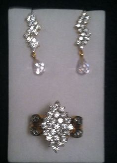 Beautiful Cluster Ring and Earring Set!