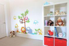 www.vinylimpression.co.uk Vinyl Wall Sticker - Baby Jungle Scene wall sticker kids bedroom wall art