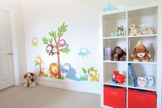 www.vinylimpression.co.uk Vinyl Wall Sticker - Baby Jungle Scene wall sticker kids bedroom wall art