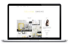 Responsive WP Theme - Yellow Smoke by Light Morango on Creative Market
