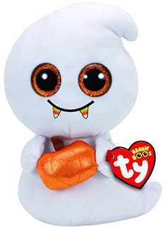 Ty Beanie Boos Plush - Scream The Ghost Original TY Beanie Boo plush to For collectors with over 40 different designs Halloween limited. Beanie Boo Dogs, Beanie Buddies, Halloween Beanie Boos, Halloween Ghosts, Peluche Lion, Ty Beanie Boos Collection, Boo And Buddy, Ty Stuffed Animals, Boo Ghost