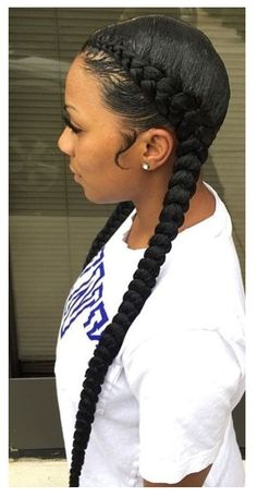 These hairstyles became standard when Beyonce rocked it in her lemonade album, thus we will say it's Beyonce-inspired facet cornrow braids. Feed In Braids Ponytail, Feed In Braids Hairstyles, 2 Braids, Braided Ponytail Hairstyles, Dutch Braids, Hairstyles 2018, Black Girls Hairstyles, Protective Hairstyles, Protective Styles