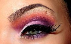 More pink & purple eye shadow combo
