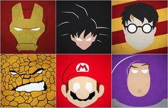 60 Pôsteres minimalistas de personagens marcantes