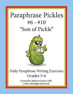 Paraphrase writing