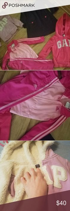 3t bundle , 3 baby gap one Addidas suit One baby gap fur lined coat , one baby gap dress , one baby gap jacket , one Addidas track suit pants and jacket GAP Jackets & Coats