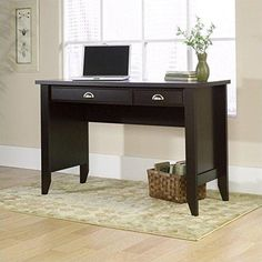 Sauder Shoal Creek Computer Desk Jamocha Wood Finish