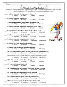 Olympic Sport Worksheet | Coloring pages | Pinterest | Olympic ...