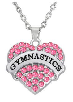 $11.98 Gymnastics Pendant Necklace Show Your Olympic Spirit for Your Favorite…