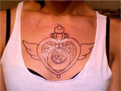 Sailor moon chest tattoo love this!
