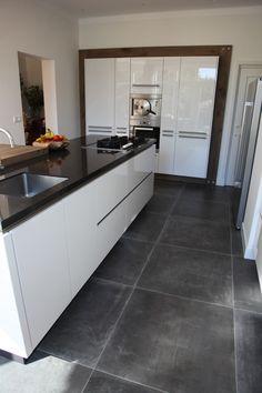 provaenza dust black 80x80 cm vloertegels betonlook in de keuken