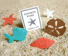 Plantable Paper Beach Wedding Flower Seed Confetti Favor ** Plant them, they grow! ** The plantable shells (and flower seed tropical fish) are Aqua Wedding, Beach Wedding Favors, Destination Wedding, Wedding Ideas, Wedding Stuff, Wedding Inspiration, Wedding Confetti, Nautical Wedding, Wedding Table