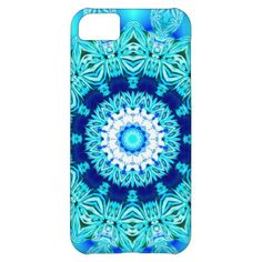 Blue Ice Glass, Abstract Beauty Aqua Lace iPhone 5C Cases
