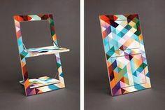 Minimalist's Folding Chair Doubles As Wall Art