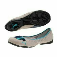 PUMA flats Pre-worn teal and aqua colors with sand colored suede flats. I always received nice compliments but they are too big for me. Offers welcome! Puma Shoes Flats & Loafers