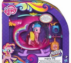 My Little Pony Pinkie Pies Rainbow Helicopter Up. up into the sky goes your Pinkie Pie figure! Your beautiful Pinkie Pie pony pal wants to take off into fun adventures in her colorful. heart-shaped helicopter vehicle! Dress her up in her propelle http://www.comparestoreprices.co.uk/childs-toys/my-little-pony-pinkie-pies-rainbow-helicopter.asp