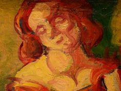 """BERNARD Emile,1887 - Au Cabaret (Orsay) - Detail 03  -  TAGS/ art painters peintres details détail détails detalles painting paintings peintures """"peintures 19e"""" """"19th-century paintings"""" tableaux Museum Paris France women woman fille girl girls """"jeune femme"""" """"young woman"""" """"young women"""" drink danse dance nightclub  night nuit dancer courtesan buveurs drinkers bottle bouteille verres glass man men hommes people fête feast auberge inn couple lovers amoureux amour love sultry sensual erotism…"""