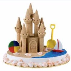 Take away the ocean stuff and this cake would be great for a Kingdom Rock Closing Celebration