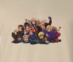 Sand Axis Powers Hetalia Group Love Picture Tee T-Shirt Shirt