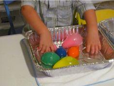 preschool science & sensory w/ balloons and water Letter H Activities, Sensory Activities Toddlers, Preschool Themes, Kids Learning Activities, Preschool Science, Preschool Classroom, Science For Kids, Kindergarten Activities, Sensory Play