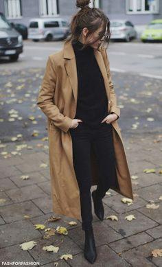 style parisien manteau camel