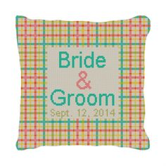 Plaid Personalized #Wedding Ring Bearer Pillow