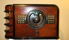 Antique Zenith Vintage Tube Radio in Art Deco Cabinet Restored and Working | eBay