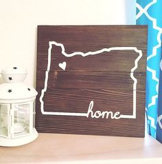 Where do you call home? Each of us has a special place that we keep in our heart, whether we live there still or have since relocated, we all love the feeling of home. This sign is available in all 50 states and the heart can be moved to represent any location that is special to you. Size depends on the state: state lines that have more proportionate dimensions such as Oregon, Ohio, Washington, measures approx. 13 inches x 12 inches; states with elongated measurements such as California…
