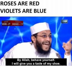 Such lovely poetry is part of Desi memes - See more 'MEMRI TV' images on Know Your Meme! Some Funny Jokes, Crazy Funny Memes, Really Funny Memes, Hilarious, Funny Vid, Desi Humor, Desi Jokes, Arabic Memes, Arabic Funny