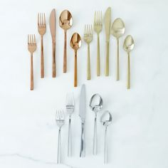 Arrezo Flatware Set on Food52 - The copper is out of this world!
