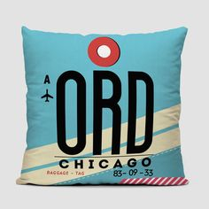 ORD - Chicago - airport throw pillow