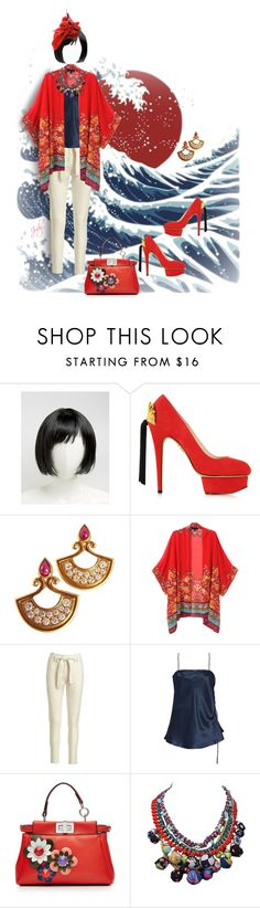 """""""Asian Dressing for Today"""" by judymjohnson ❤ liked on Polyvore featuring Fuji, ASOS, Charlotte Olympia, Christian Dior, WithChic, A.L.C., E L L E R Y and Fendi"""