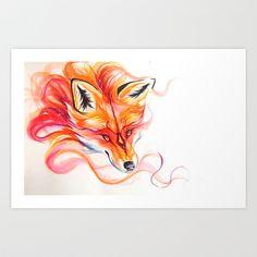 Magic Fox Art Print by Katy Lipscomb - $18.00
