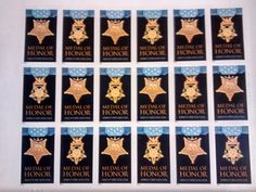 """20 Collectible """"Medal of Honor"""" Stamps"""