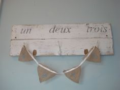 123 Hook was purchased as is, hessian love bunting was handmade. Hessian, Bunting, Projects, Diy, Handmade, Home Decor, Log Projects, Garlands, Blue Prints