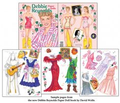 Debbie Reynolds Featuring 24 Costumes from Her Hits [Pert and Pretty Star] : Paper Dolls of Classic Stars, Vintage Fashion and Nostalgic Characters, for Kids and Collectors Paper Doll Costume, Barbie Paper Dolls, Paper Dolls Book, Victorian Paper Dolls, Vintage Paper Dolls, Tammy And The Bachelor, Punisher Costume, Barbie Fashion Sketches, The Unsinkable Molly Brown