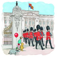 Pooh and his friends travel to Buckingham Palace