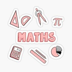 School Subject Maths Stickers | Redbubble Preppy Stickers, Cute Laptop Stickers, Cool Stickers, Printable Stickers, School Binder Covers, School Book Covers, Journal Stickers, Scrapbook Stickers, Planner Stickers