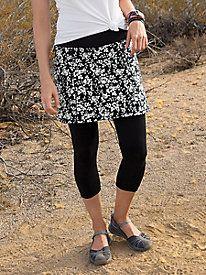 Capri With Print Skirt