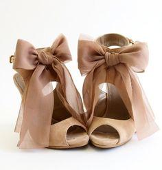 Chiffon bows  DIY idea Design works No.929 |2013 Fashion High Heels|