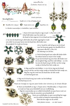 FREE BEADING PATTER: EARRINGS: MAOLA THE LUX from Elfen.Be featured in Bead-Patterns.com!