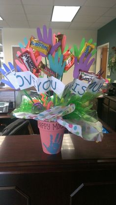 Classroom Mother's gift.  Too cute!