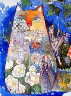 Oxana Zaika (©2011 oxanazaika.com) aquarelle,encre,papier30x40cm