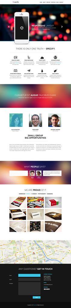 Specify - One Page PSD Template by DarkStaLkeRR.deviantart.com on @deviantART
