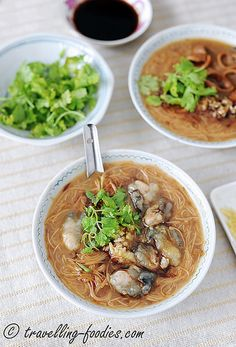 pork intestines oyster noodles | Taiwanese food
