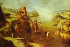 Landscape with Christ Appearing to the Apostles at the Sea of Tiberias, 1553Pieter Bruegel the Elder
