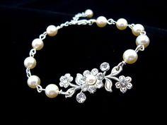 Wedding bracelet bridal bracelet wedding jewelry by treasures570